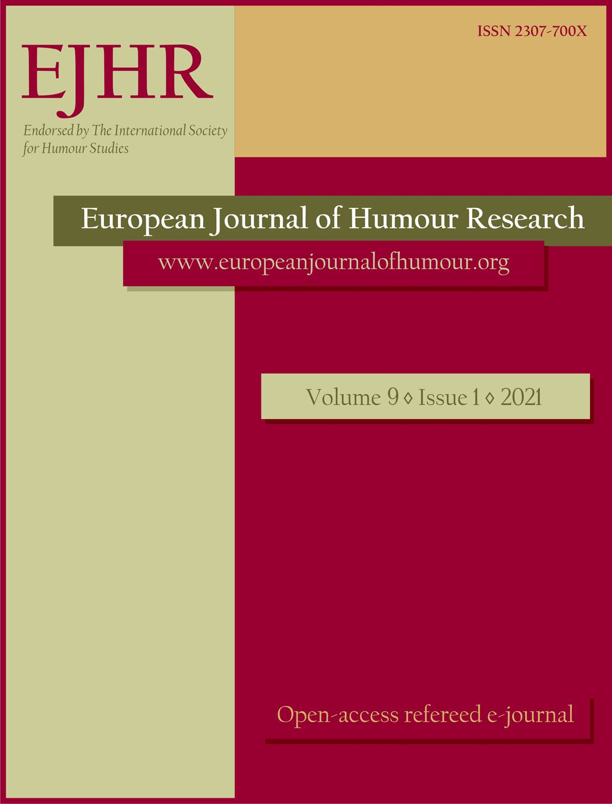 View Vol. 9 No. 1 (2021): Humour in the Media